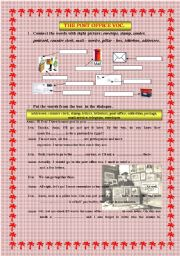 English Worksheet: the post office vocabulary