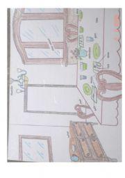 English Worksheet: Dining room