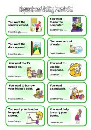 English Worksheet: Requests and Asking Permission