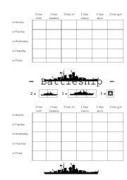 English Worksheets: Battleship