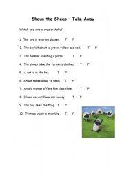 English worksheet: SHAUN THE SHEEP