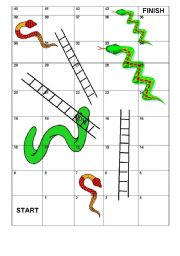 printable snakes and ladders template - english teaching worksheets vocabulary games