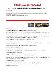 English Worksheet: SPANISH OMELETTE1
