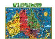 English Worksheet: Map of Australia and New Zealand