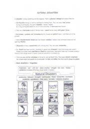 natural disasters voc1 esl worksheet by mistick. Black Bedroom Furniture Sets. Home Design Ideas