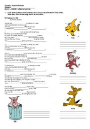 English Worksheet: Song - Swinging on a star by Frank Sinatra