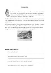 English Worksheet: Reading - Pocahontas