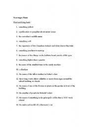 English Worksheets: Scavenger Hunt read and respond activity
