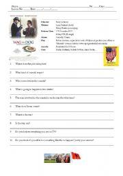 English Worksheets: Film - Wag the Dog