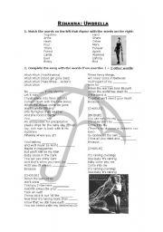 English Worksheets: Rihanna - Umbrella
