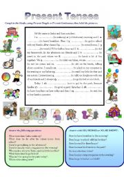 English Worksheets: PRESENT TENSES