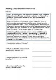 English Worksheets: Veterans