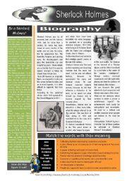 English Worksheets: Sherlock Holmes