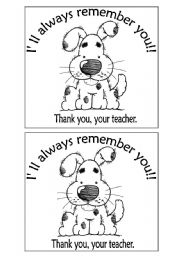 English Worksheets: i�ll always remember you