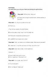 English Worksheet: Role playing- shopping conversation