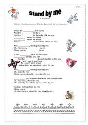 English Worksheet: song : stand by me by John Lennon