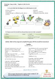 English Worksheets: Song Activity: Together by Bob Sinclair