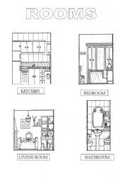 English Worksheets: rooms