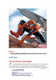 English Worksheet: Spiderman A :The Boy,the Bite and the Burglar