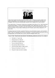 English Worksheets: Coldplay