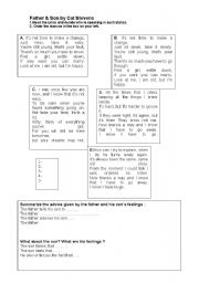 English Worksheets: Father and Son- reading and listening activity