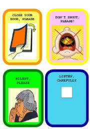 English Worksheet: CLASSROOM LANGUAGE FLASHCARDS SET 2