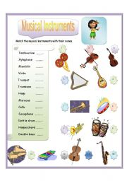 English Worksheet: Musical Instrument Part-2