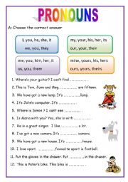 Printables Pronoun Worksheets english teaching worksheets pronouns 2 pages for beginners