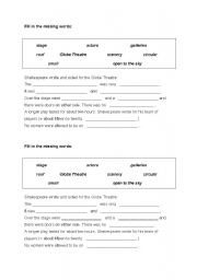 English teaching worksheets: The theatre
