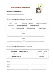 English Worksheets: What�s on TV?