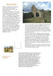English Worksheet: HASTINGS CASTLE AND THE BATTLE OF HASTINGS