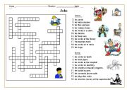 English Worksheet: jobs -puzzle