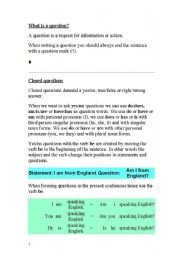 English Worksheets: how to form a question
