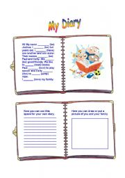 English Worksheets: Boy�s diary