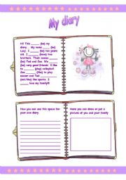 English Worksheets: My Diary