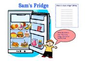 English Worksheet: Sam�s Fridge