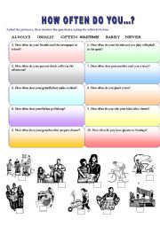English Worksheets: HOW OFTEN DO YOU...?