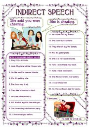 English Worksheet: INDIRECT SPEECH - STATEMENTS
