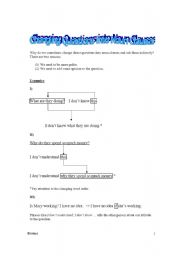 English Worksheet: Indirect Questions + Examples + Exercises + Key