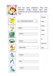 English Worksheets: Pokemon