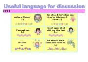English Worksheets: 10 pages with Useful Language for Discussion and Topics for Discussion