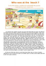 English Worksheet: Who was at the beach?