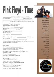 English Worksheet: Time by Pink Floyd