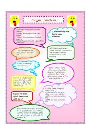 English Worksheet: tongue twisters vol.2