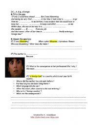 English Worksheets: spanglish, part 2