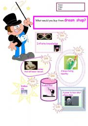 English Worksheets: dream shop