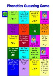 PHONETICS GUESSING GAME (VOWELS)