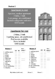 English Worksheets: Housin Ads Jigsaw