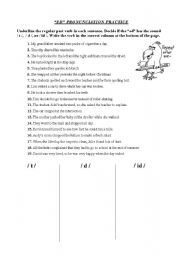 English Worksheet: Pronunciation of