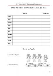 English Worksheets: My very first English workbook p3